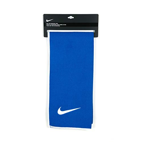 Nike Tour Microfiber Golf Towel, Royal/White