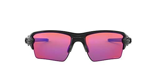 Oakley Men's OO9188 Flak 2.0 XL Polarized Rectangular Sunglasses, Polished Black/Prizm Trail, 59 mm