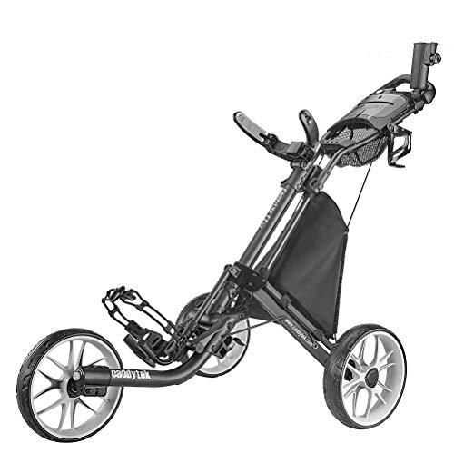 caddytek CaddyLite EZ Version 8 3 Wheel Golf Push Cart - Foldable Collapsible Lightweight Pushcart with Foot Brake - Easy to Open & Close, dark grey, one size