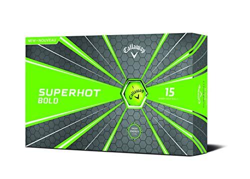 Callaway Golf Superhot Bold Matte Golf Balls Prior Generation (Green) , 15 Pack