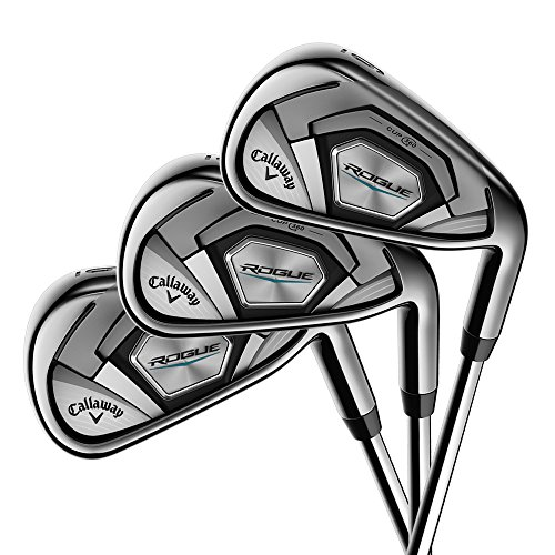 Callaway Golf 2018 Men's Rogue Irons Set (Set of 7 Total Clubs: 5-PW, SW, Left Hand, Synergy, Senior Flex)