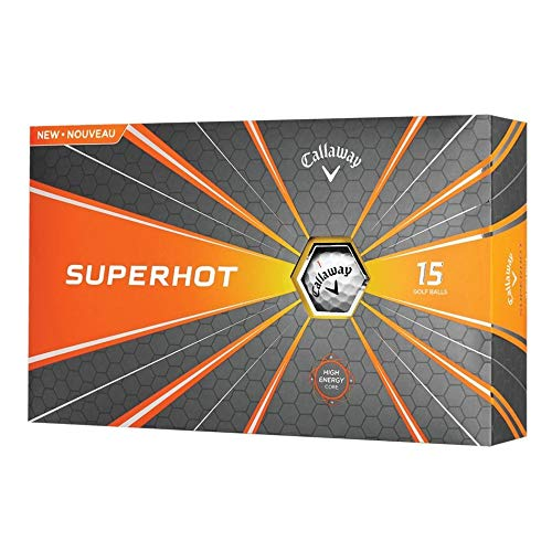 Callaway 2018 Superhot Golf Balls (Pack of 15), White