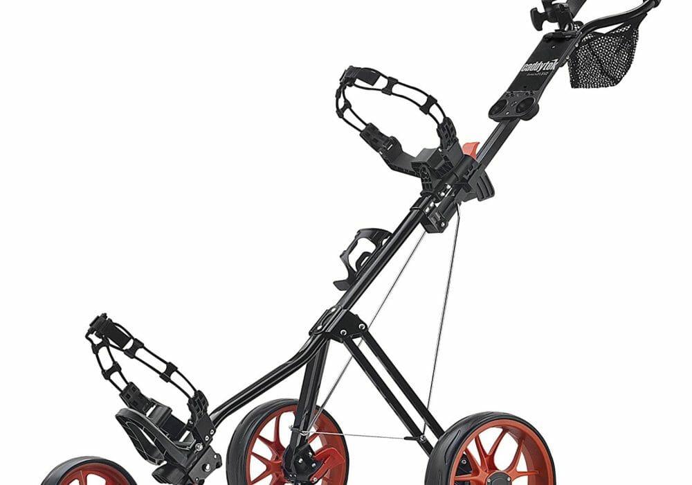CaddyTek SuperLite Deluxe Golf Push Cart Review