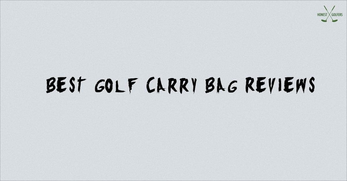 best golf carry bag reviews