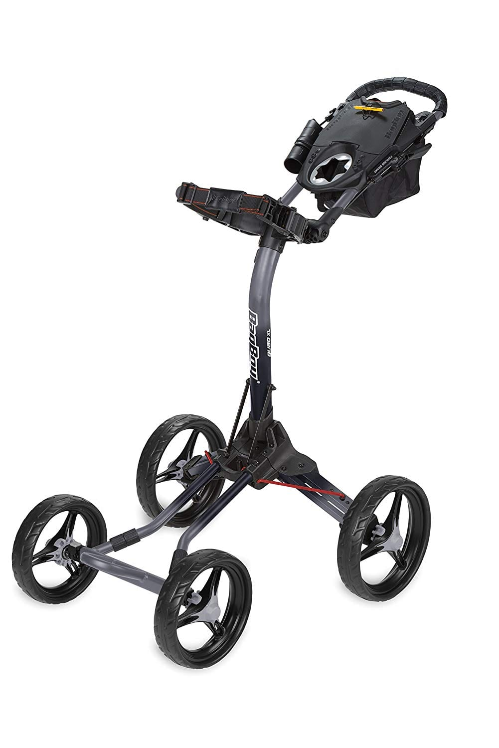 Bag Boy Quad XL Push Cart Battleship Gray:Black Fade