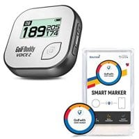 Golf Buddy Talking GPS Range Finder with Connected Tracker