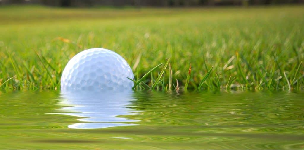 golf ball floating