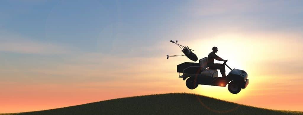 jump golf cart