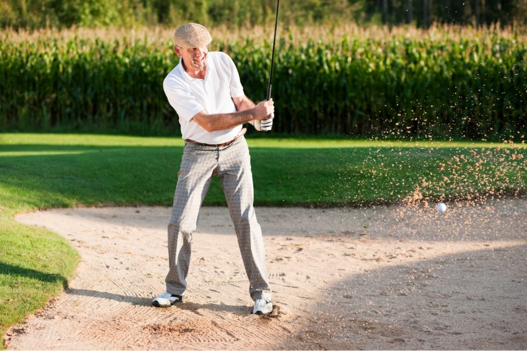 what is a bunker in golf