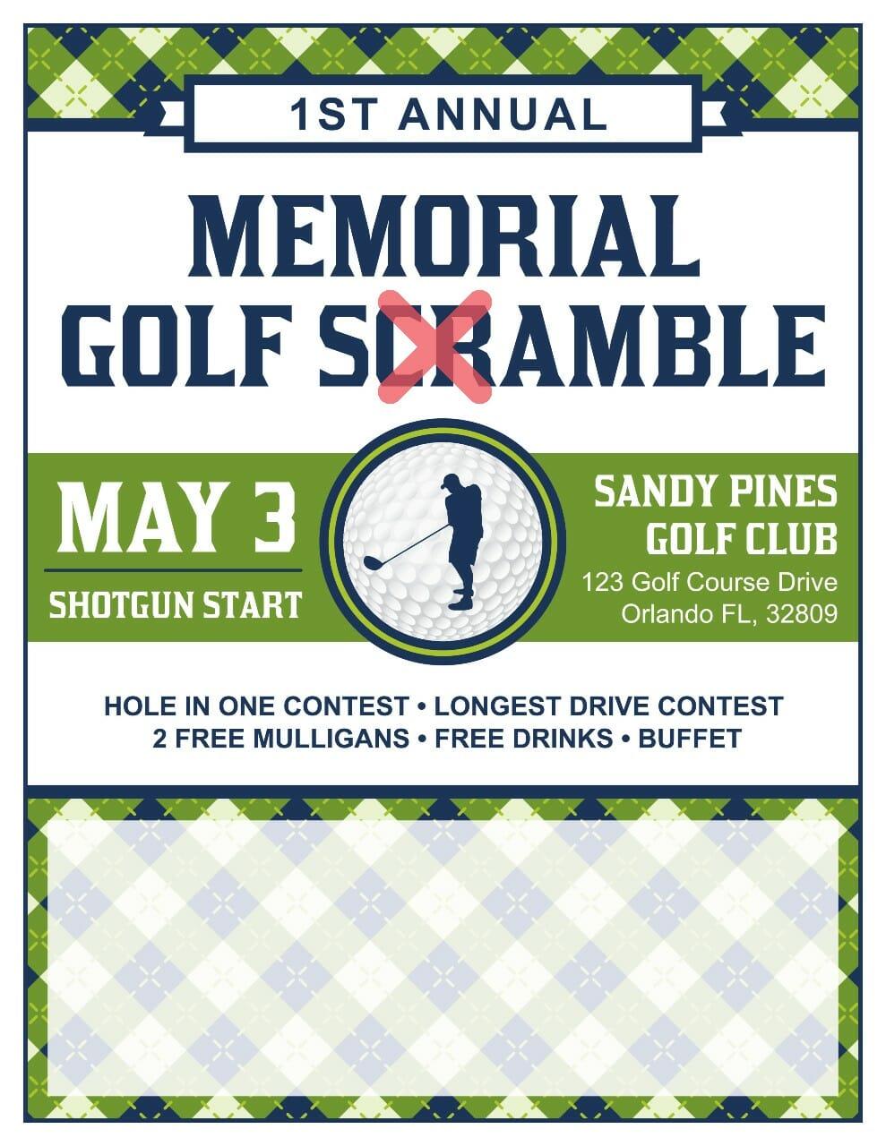 what is a golf shamble